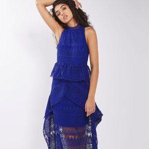 Topshop Lace Funnel Neck Dress